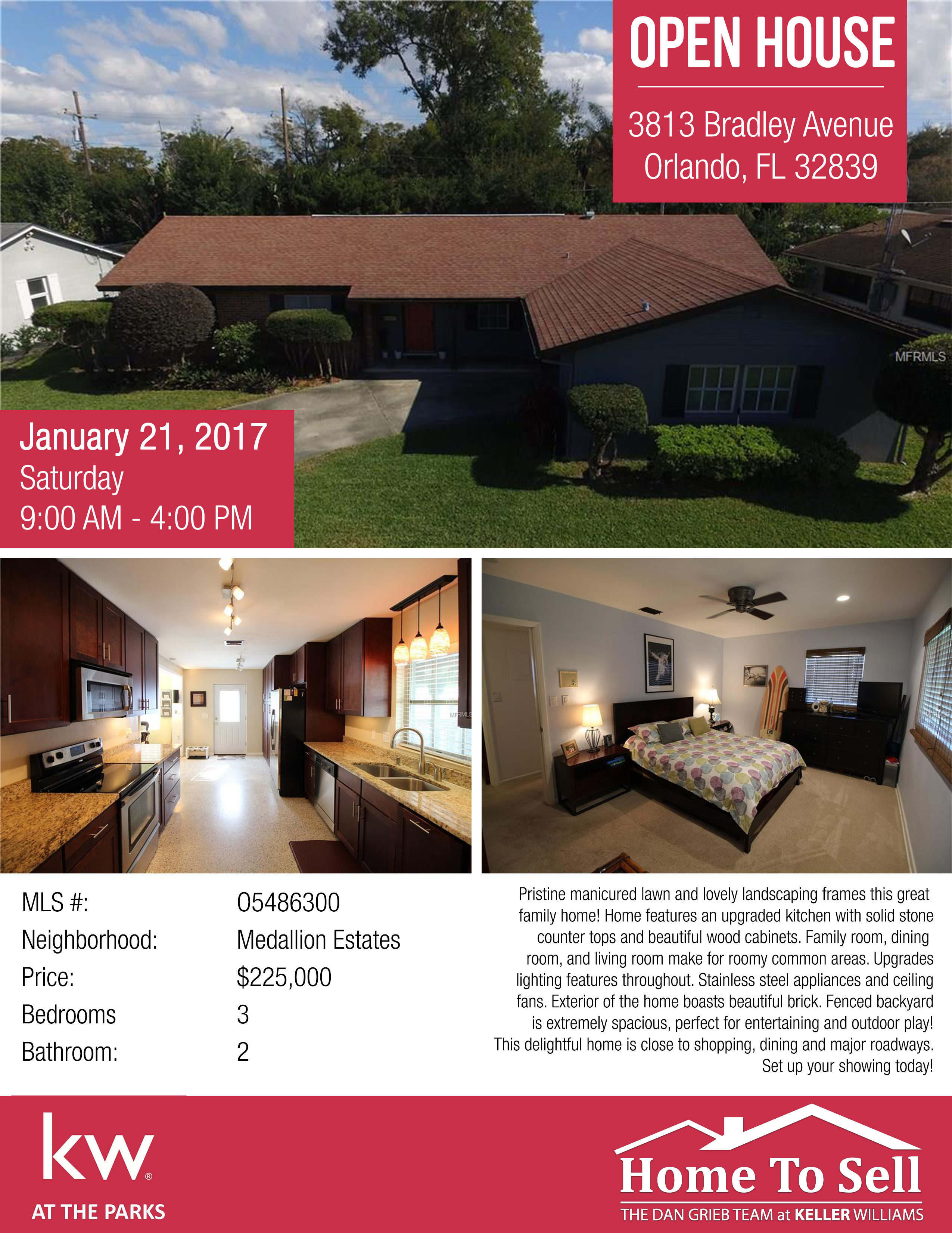 Open House - 3813 Bradley Avenue - January 20, 2017.png